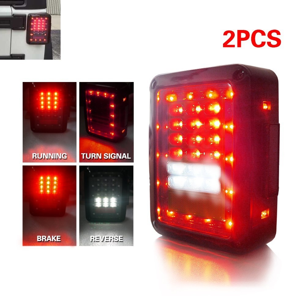 1pcs New USA and European version LED Brake light, LED Turning Reverse light 12V LED Rear Taillight /Tail Light Led For Jeep 2pcs brand new high quality superb error free 5050 smd 360 degrees led backup reverse light bulbs t15 for jeep grand cherokee