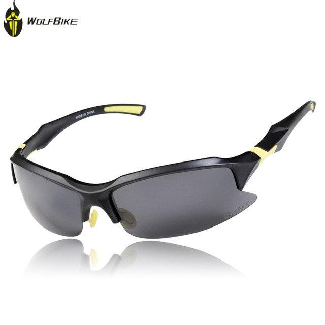 Outdoor Solar winddicht Brillen Wechselobjektive Bike Sport Brille, gelb