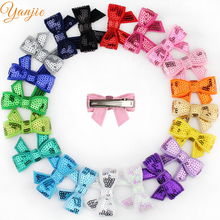 """Free DHL 600pcs/lot Popular Summer Knot Applique 1.8"""" Sequins Hair Bow Barrette For Girl Hairpins Hair Clips Hair Accessories"""