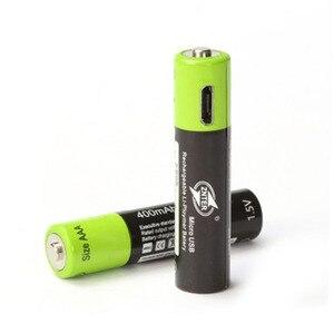 Image 4 - ZNTER AAA Bateria Recarregável 1.5V 400mAh Bateria de Polímero de Lítio Bateria Recarregável USB Universal Com Cabo Micro USB