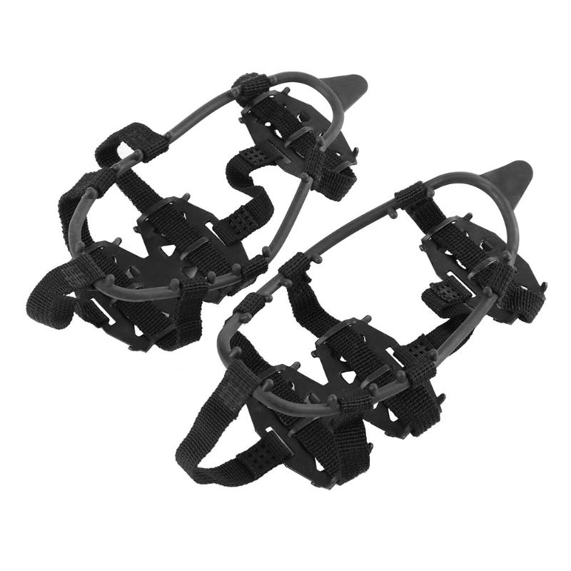 24 Stud 1 Pair Crampons Ice Non-Slip Snow Shoes Spikes Grips Camping Hiking Climbing Accessory Winter Outdoor Anti Slip Crampons