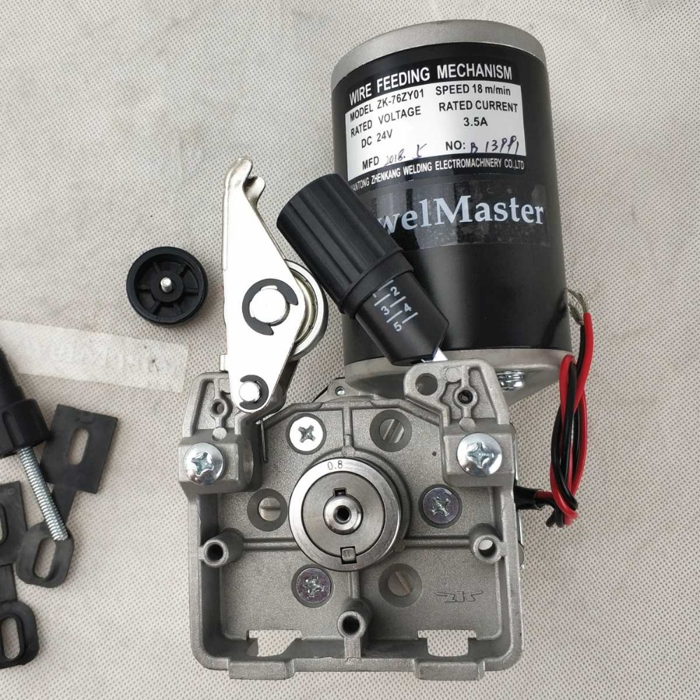 купить 24V 76ZY-01 76ZY01 Wire Feed Assembly Wire Feeder Motor MIG MAG Welding Machine Welder Euro Connector MIG-160