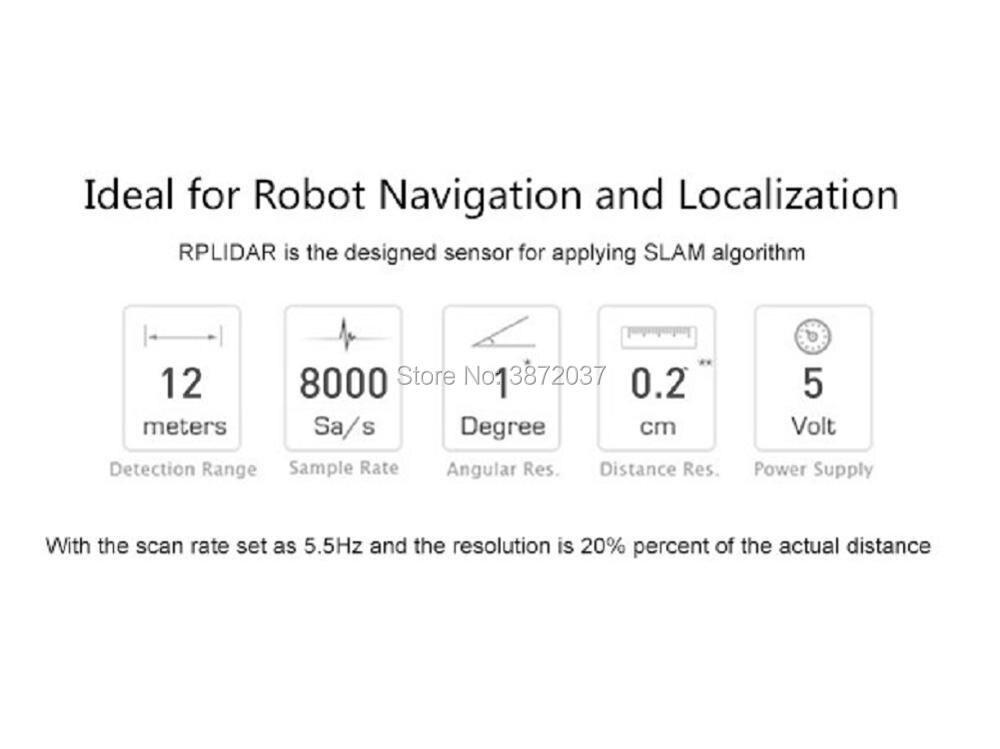 Rplidar a1 360 graus laser radar scanner