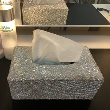 Beautiful Home Living Room Bedroom Napkin Holder with Crystals Glitter Car  Block Tissue Box Great Gift for Women 44978fa2499d