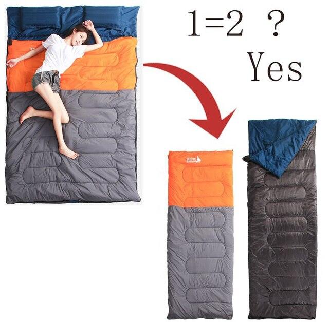 Schlafsack Für Paar 3,5 Kg Mit Kissen Schlafsack Riesen Doppelschlafsack  Mit 2 Kissen Abnehmbare