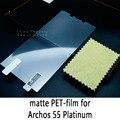 Lucent brilhante claro fosco matte anti glare película protetora de vidro temperado protetor de tela para archos 55 platinum
