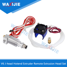 V6 J-head Hotend Extruder Kit Remote Extrusion Head Set 0.2/0.3/0.4/0.5mm Nozzle With Fan PTFE For 1.75/3mm Filament Bowden Part