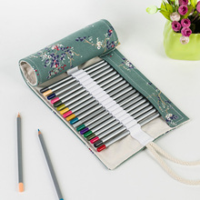 canvas large capacity handmade bag pencil case fit for 72 colored pencils bag big box children painting art supply