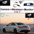 3in1 Pantalla WiFi de La Cámara + Receptor Inalámbrico + Espejo Especial DIY Sistema de Aparcamiento de Visión Trasera Para Mercedes Benz MB CLA C117