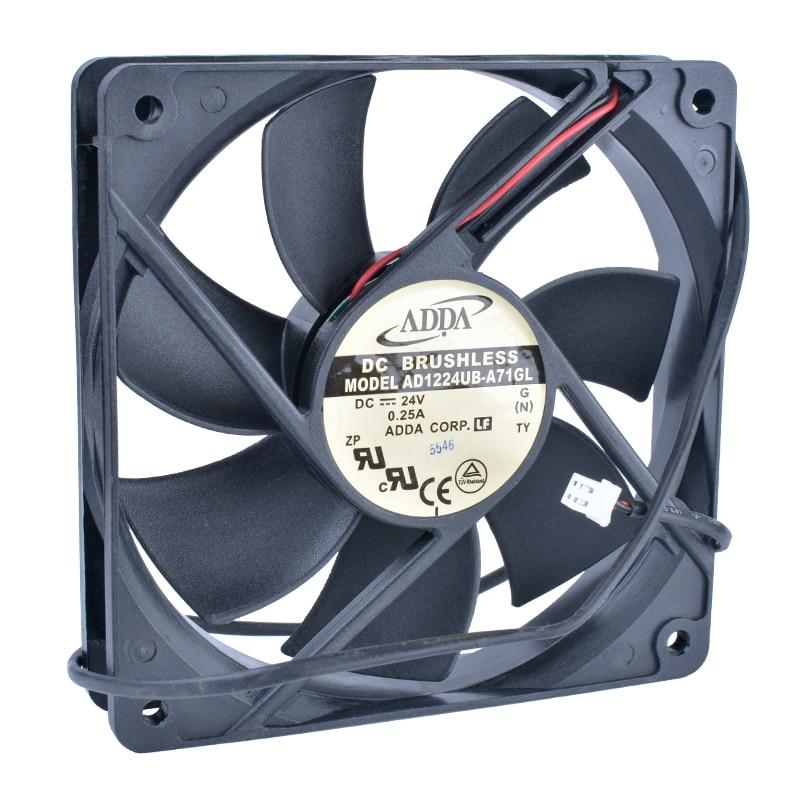 COOLING REVOLUTION AD1224UB-A71GL 12cm 120mm fan12025 120x120x25mm 24V 0.25A Double ball bearing inverter IPC server cooling fan