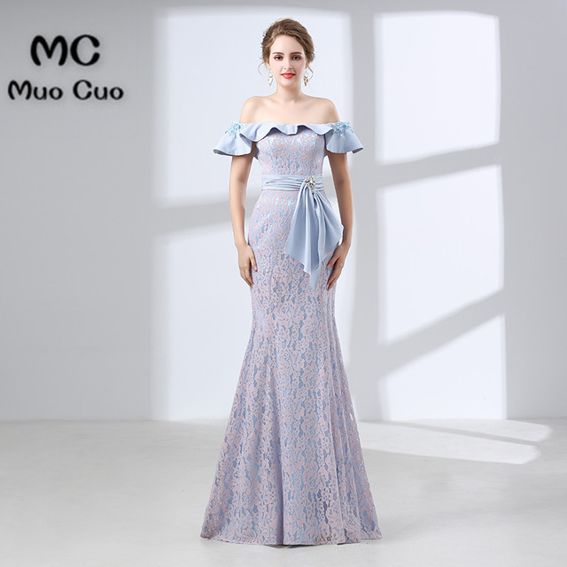 2018 Mermaid Prom dresses Long with Lace dress for graduation ...