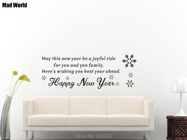 Wishing you best year ahead Happy New Year Wall Art Stickers Wall ...