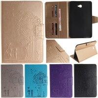 Cute Cartoon Dandelion Lovers Stand Flip Leather Case For Samsung Galaxy Tab A A6 10 1