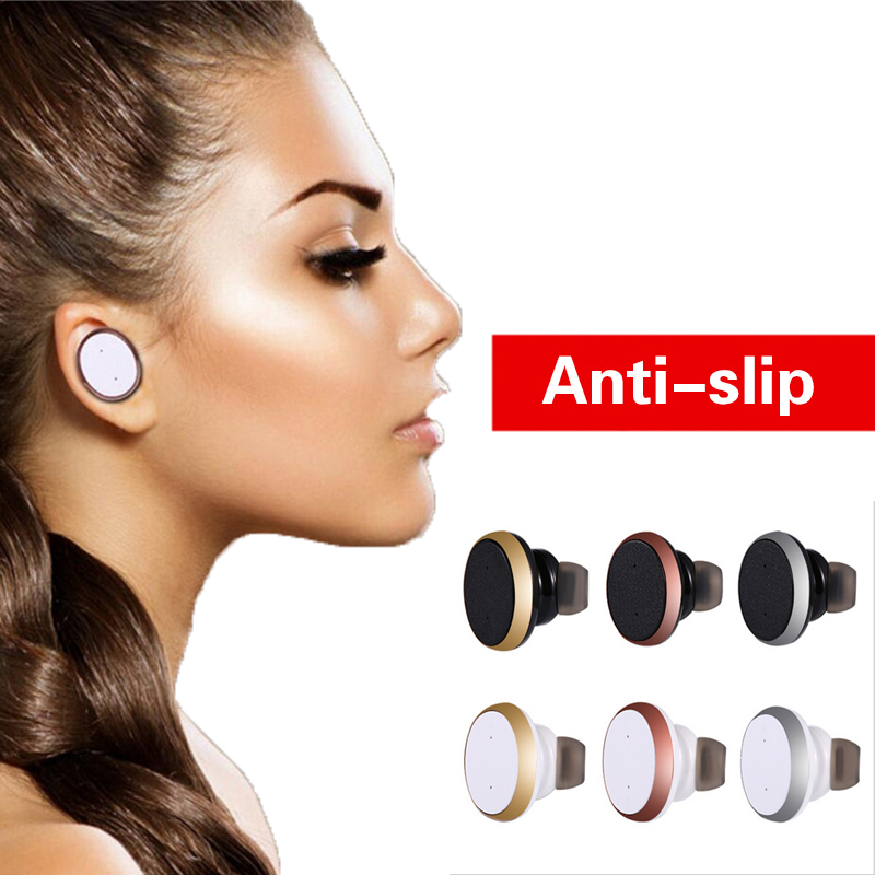 Mini Bluetooth earphone Stereo Music Earphone Wireless Headset for iPhone 7 for Samsung galaxy s7 s6 s5 xiaomi all smartphones wireless bluetooth earphone s6 1 metal bluetooth headset with mic for iphone 7 for samsung galaxy s7 s6 s5 xiaomi redmi 4 phones