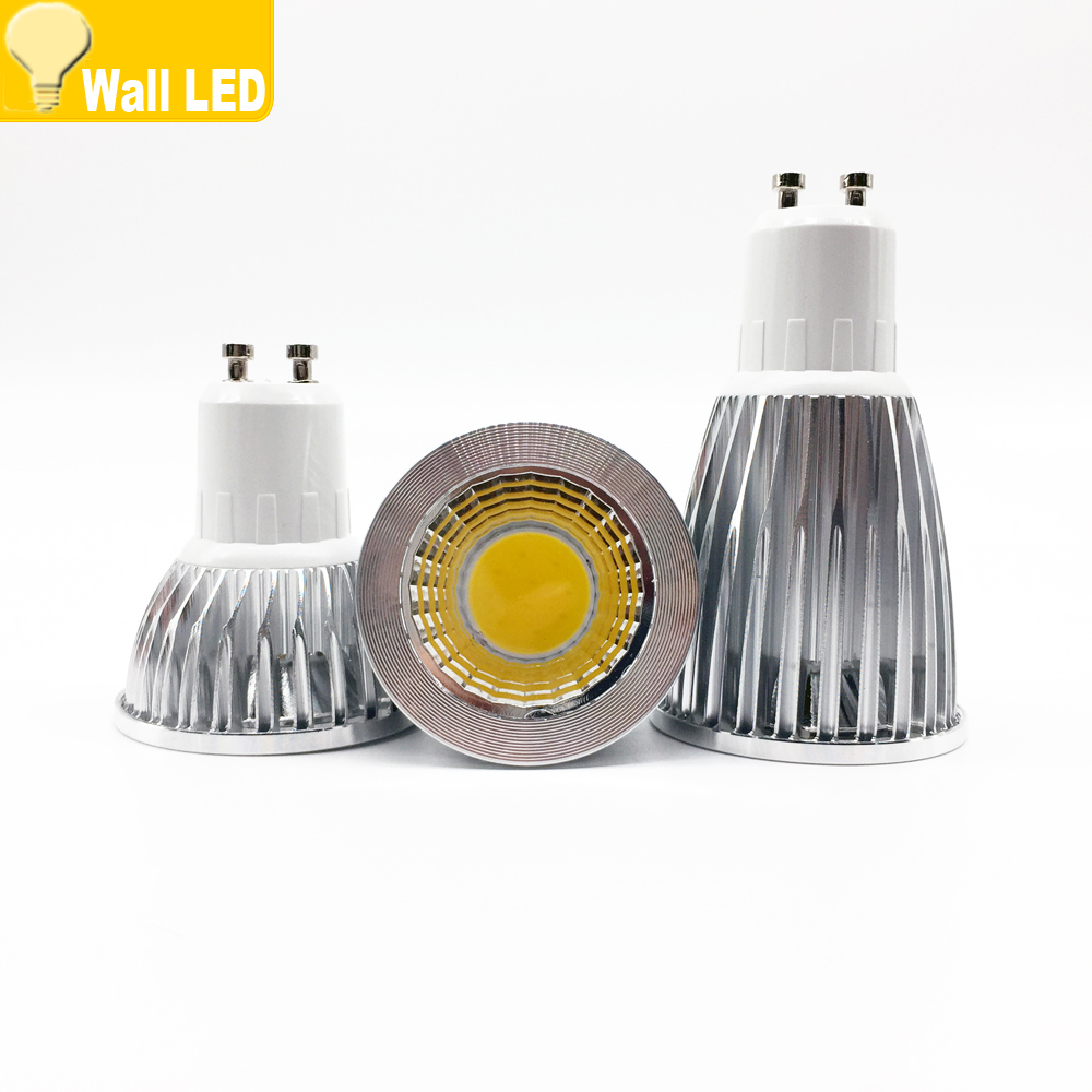 super bright gu 10 bulbs light dimmable led warm white 85 265v 6w 9w 12w gu10 cob led lamp light. Black Bedroom Furniture Sets. Home Design Ideas