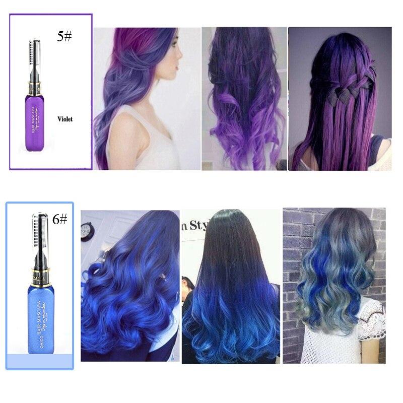 1 pcs outils professionnel de couleur de cheveux de longue dur e pigments bleu violet gris. Black Bedroom Furniture Sets. Home Design Ideas