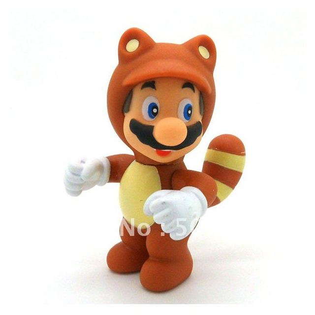 NEW 10cm Super Mario Bro Figure Tanooki Mario Wholesale 30/LOT Free shipping EMS