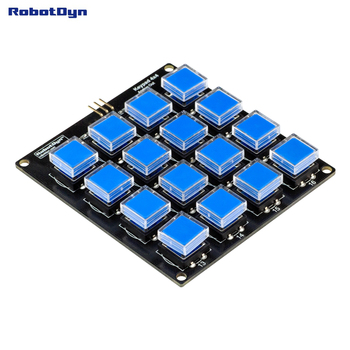 Button Keypad module 4x4. One analog out. Simple connection to Compatible for Arduino, Raspberry, STM. tsleen 4x4 3x4 matrix keyboard keypad module 12 16 keys button keypad keyboard breadboard switch for arduino controller diy kit