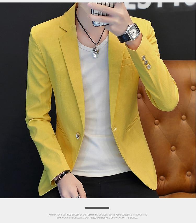 Hoho blazer masculino de algodão 2020, pequeno,