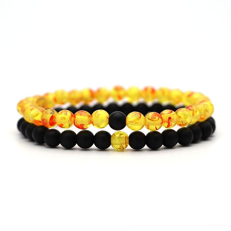 Браслет для женщин рождественские украшения мужские браслеты энергетическая эластичная веревка пара тигровый глаз из бисера Камень из натуральной лавы 6 мм Четки