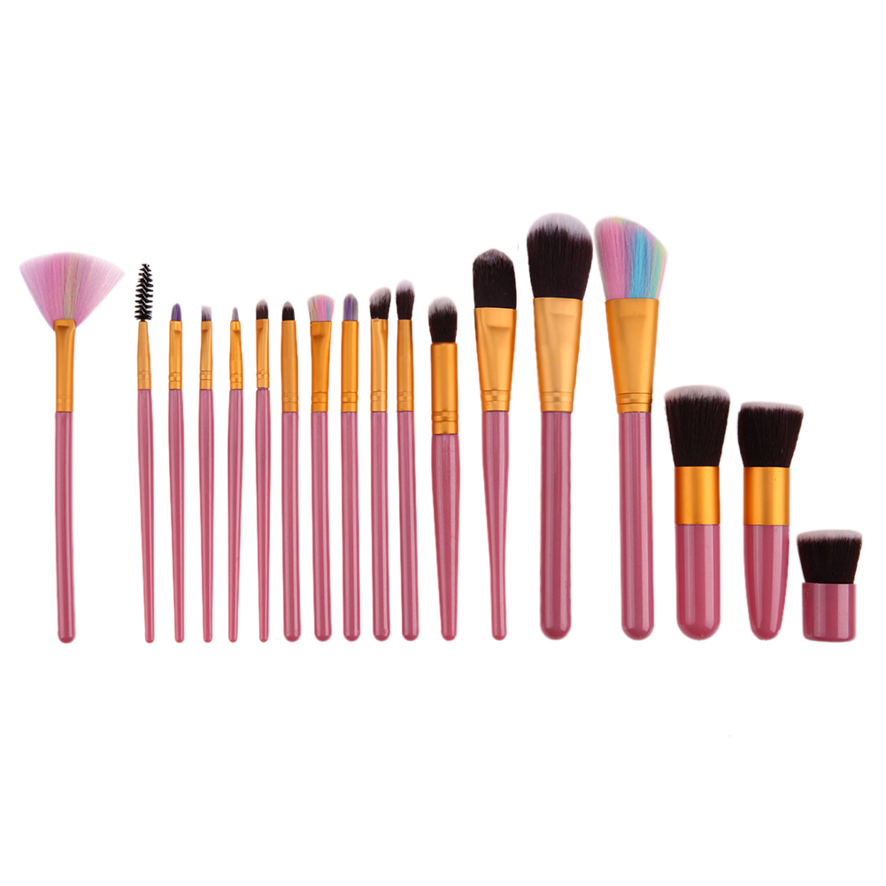 18pcs Professional Makeup Brushes Set Cosmetic Foundation Powder Blush Eyeliner Brush Pincel Maquiagem Make up Brushes 24pcs makeup brushes set cosmetic make up tools set fan foundation powder brush eyeliner brushes leather case with pink puff