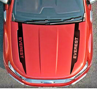 2 PC free shipping hood scoop stripes graphic vinyl car sticker for ford everest 2015 2016 SUV accessories decals