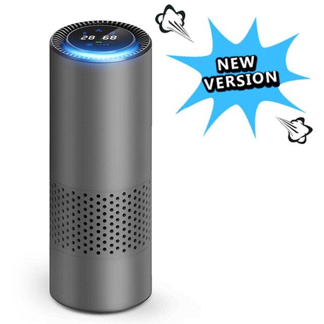HEPA Filter Air Purifier with Gesture Control Infrared Sensor Car Air Freshener Anion Car Air Purifier best for Car Home Desktop