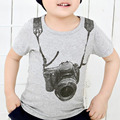 Boy Kids Camera design T Shirt Cotton Short Sleeve Tops O Neck Cartoon 3D Tee Children Summer Clothing Roupas Infantis Menino Y4