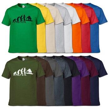 Fashion Snowboarding Evolution T-Shirt Summer New Snowboardinger T Shirt 16 Colors Men Short Sleeve O Neck Tshirt Unisex Hip Hop 1