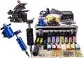 Máquina de tatuagem ROTATIVO Kit 2 Gun Tattoo Power Supply 14 cores de Tinta Aperto Agulha Do Bico Set para Iniciante com Bolsa de Transporte caso