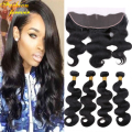 13x4 Ear To Ear Lace Frontal Closure With Bundles Annabelle hair 4pcs Malaysian Body Wave Virgin Hair Full Frontal Lace Closure