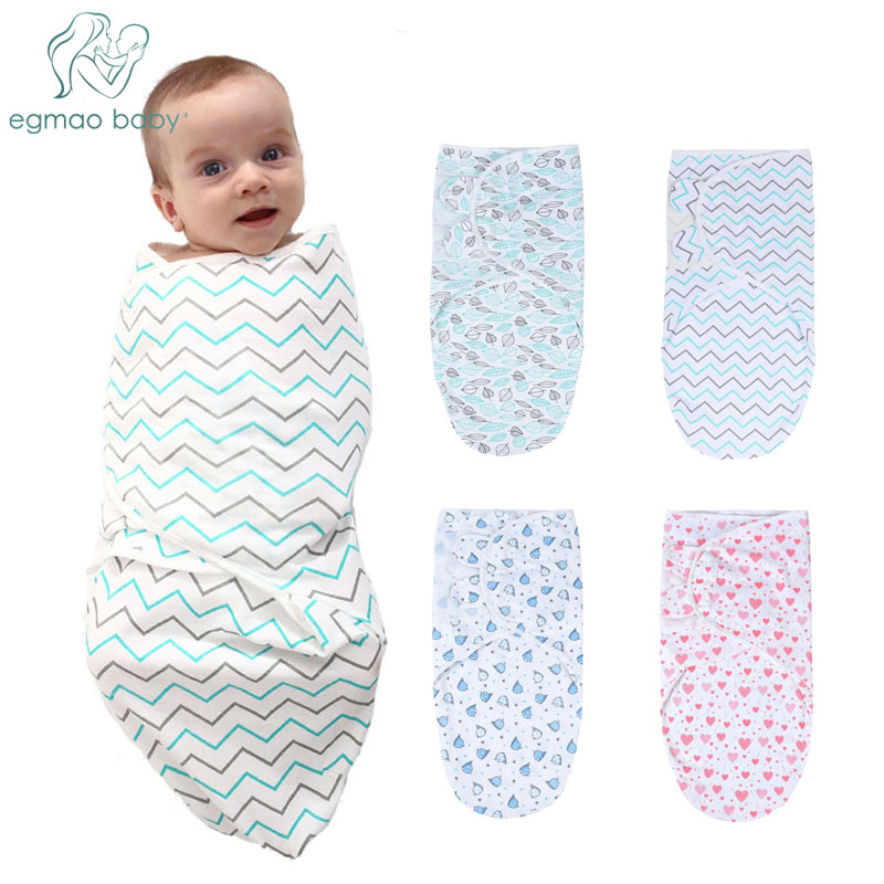 Baby Infant Soft Cotton SwaddleMe Swaddle Swaddling Sleeping Wrap 3PK 3-6months