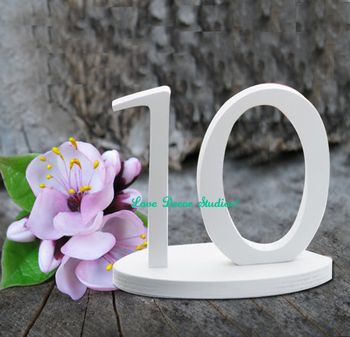 Wedding decoration wedding table reception find seat table numbers unpainted table numbers painted table numbers DIY numbers фото