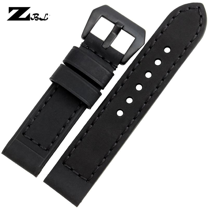 Kalın watch band hakiki deri kordonlu saat 20mm 22mm 24mm 26mm erkek - Saat Aksesuarları - Fotoğraf 6