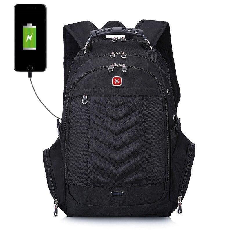 "Brand Design Swiss Laptop 16"" Backpack External Computer Backpacks Anti-theft Backpack Waterproof Bags for Men Women Bags"