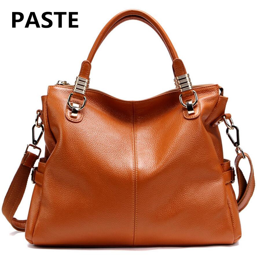 PASTE 2017 New First Layer of Leather Handbags Classic Wild Models Leather Handbags Fashion Handbags Shoulder Bag Women Hot summer new women leather handbags shell bag shoulder bags first layer of cowhide korean version of the wild fashion handbags