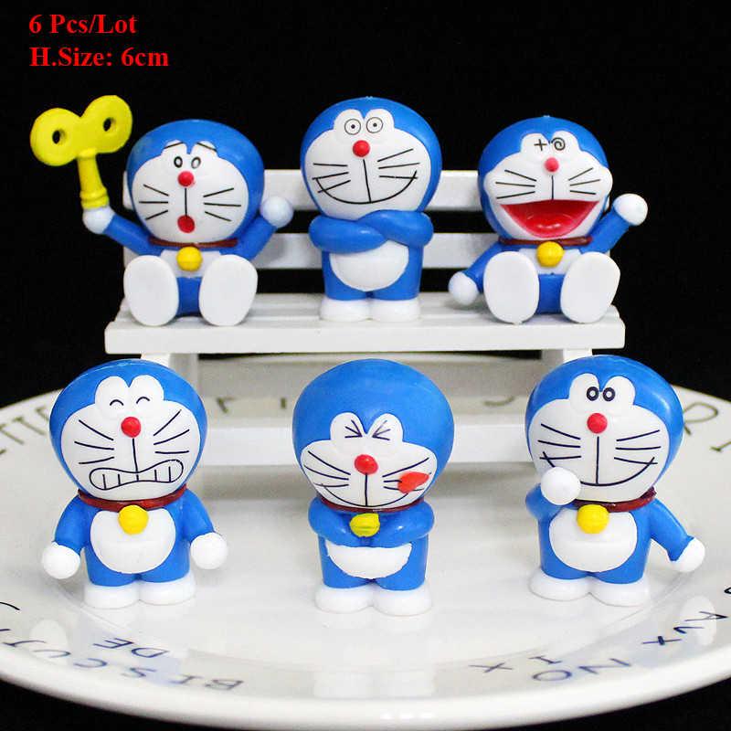 Cupcake trang trí Doraemon Quán Quân đầu tiên quà tặng sinh nhật cho bé trẻ em Dự Tiệc Cung cấp Mèo bánh sinh nhật Topper bánh kem