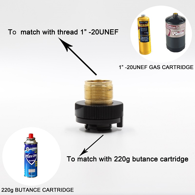 1LB Propane Refill Adapter Small Gas Tank Input Valve Output outdoor Camping Stove Convert Cylinder LPG Canister Gas Adapter in Outdoor Stoves from Sports Entertainment