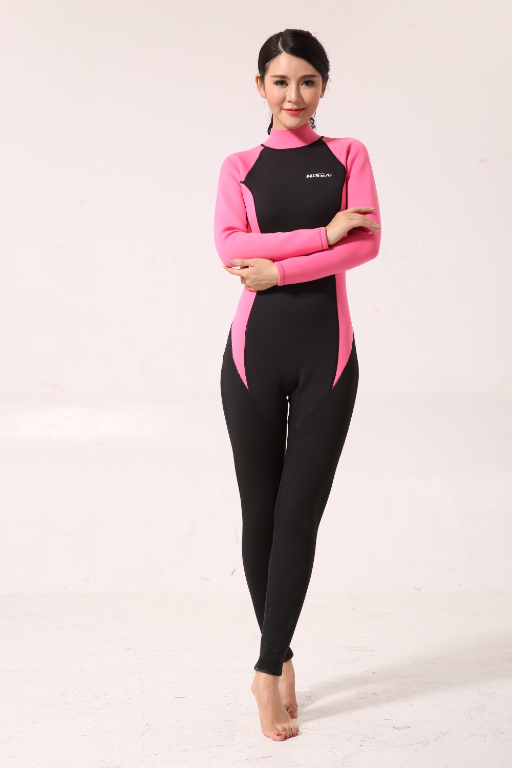 Free Shipping 3mm Neoprene Scuba Dive Wetsuit For women Spearfishing Wet Suit Surf Diving Equipment Split Suits Spear Fishing
