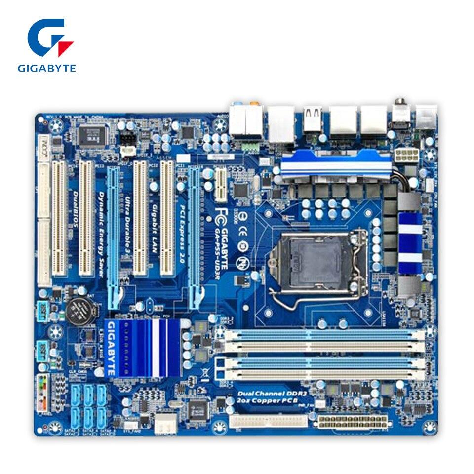 цена на Gigabyte GA-P55-UD3R Desktop Motherboard P55-UD3R P55 LGA 1156 i5 i7 DDR3 16G SATA2 ATX