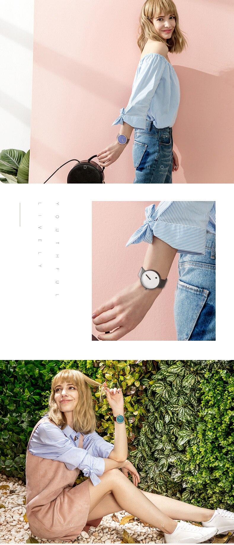 Luxury Designer Brand Quartz Watch Women Leather Casual Ladies Simple Wrist watch Girl Clock Female Creative Gift  relogio 5