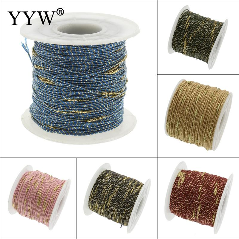 100Yards/Lot 1MM Nylon Thread Cord Plastic String Strap DIY Rope Beading European Bracelet Braided Making Jewelry Accessories