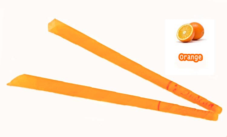 408 pcs lot aromatherapy indian ear candles Orange Smoke free trumpet beewax ear candle with CE