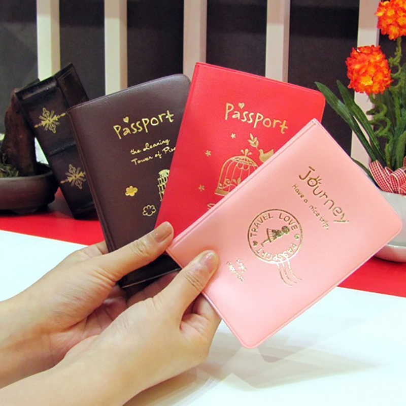 New Travel Accessories Passport Holder Women Men PU Leather Cover On The Passport ID Credit Card Holder Passport Cover Unisex
