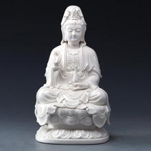 Bodhisattva Ceramic Statue of The Guanyin Goddess Mercy Buddha Sculpture Avalokitesvara White Porcelain Buddhism Sale
