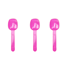 10pcs Disposable Clear Ice-cream Spoons Plastic Smoothie Dessert PVC S