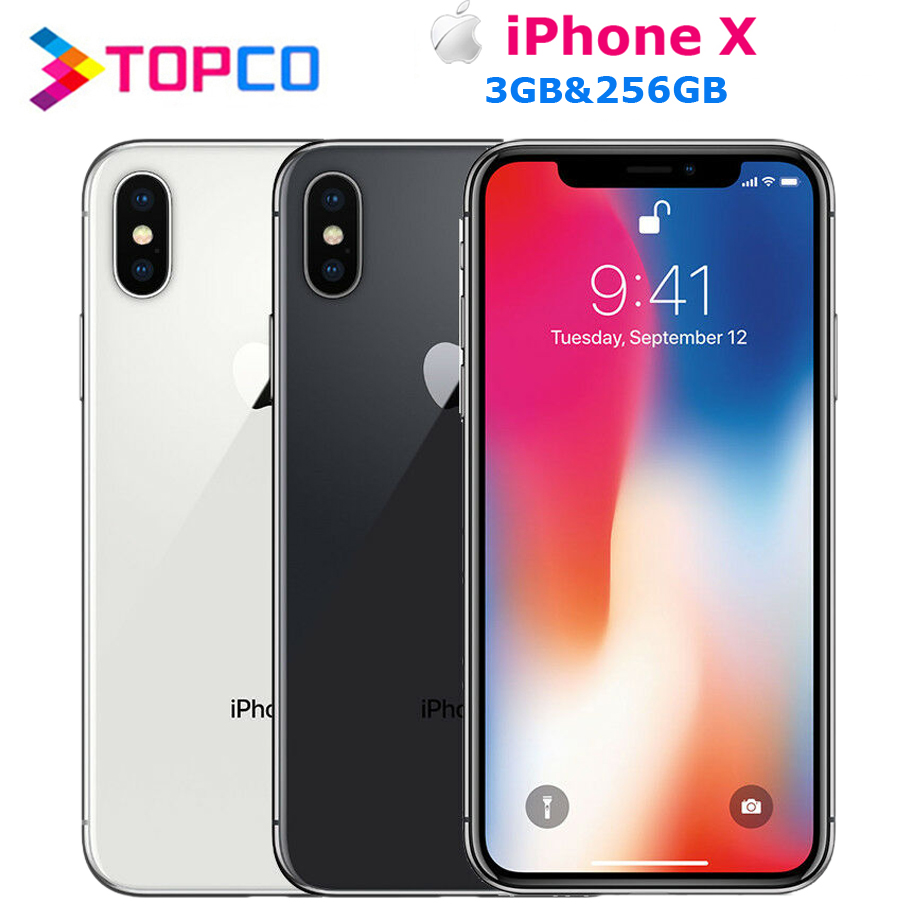 "Apple iPhone X Factory Unlocked Original Mobile Phone 4G LTE 5.8"" Hexa-core A11 Dual 12MP RAM 3GB ROM 64GB NFC(China)"