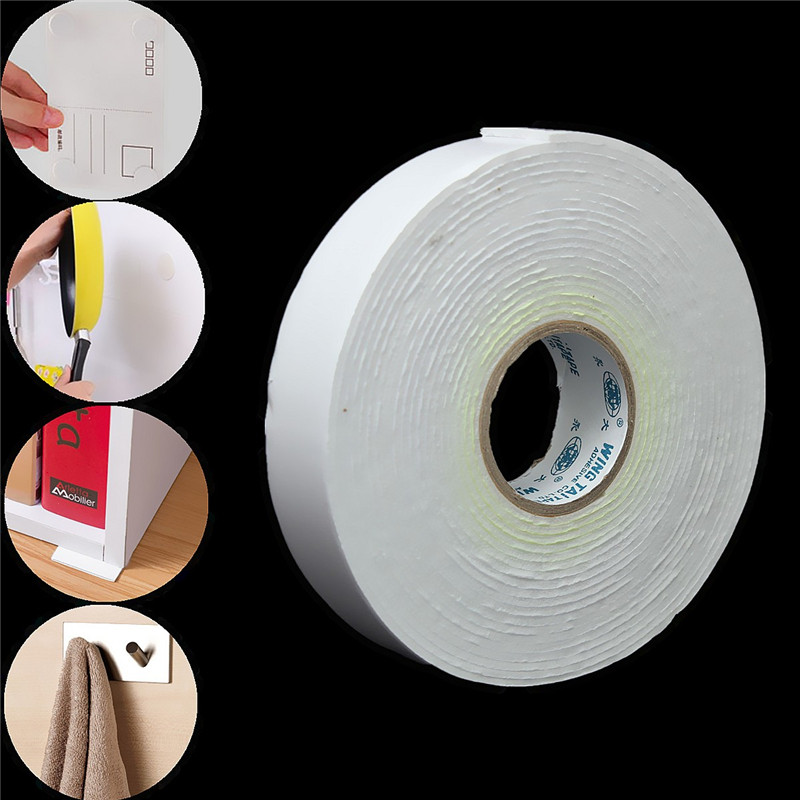 5mx24mmx1.8mm White Heavy Duty Sticky Self Adhesive Double Sided Tap Sticker Strong Mounting Tape Foam Sticker For Posters Glass 3m super strong double faced adhesive tape foam double sided tape self adhesive pad for mounting fixing pad sticky
