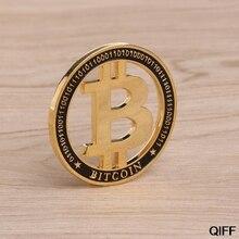 Памятная монета позолоченные полые Биткоин BTC для сувенирной коллекции искусства May06