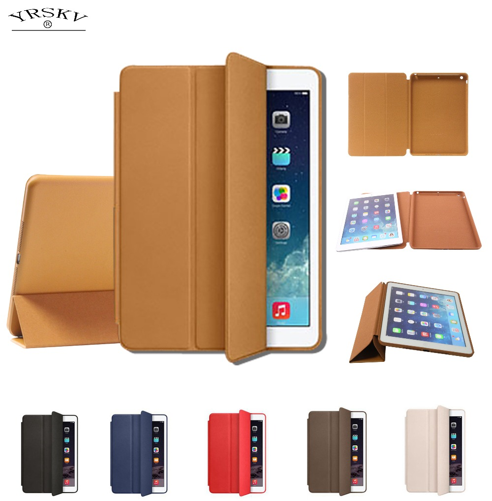 Case for iPad 9.7 2017/2018 release YRSKV Smart cover Original 1:1 Ultra Slim Light weight Smart Auto Sleep Wake Tablet case
